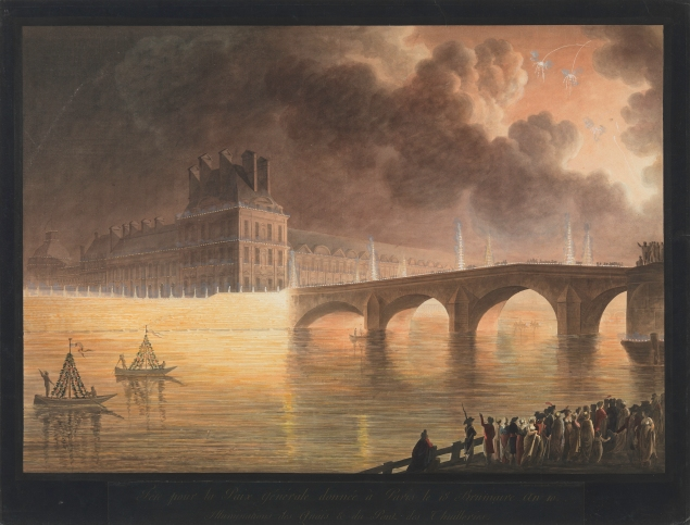 Fete pour la Paix Generale (circa 1801), by francesco Piranesi and francois Sablet, also joined the Met. (Purchase, Susan Schulman Printseller Gift, in honor of Catherine Jenkins, and Brooke Russell Astor Bequest, 2014)