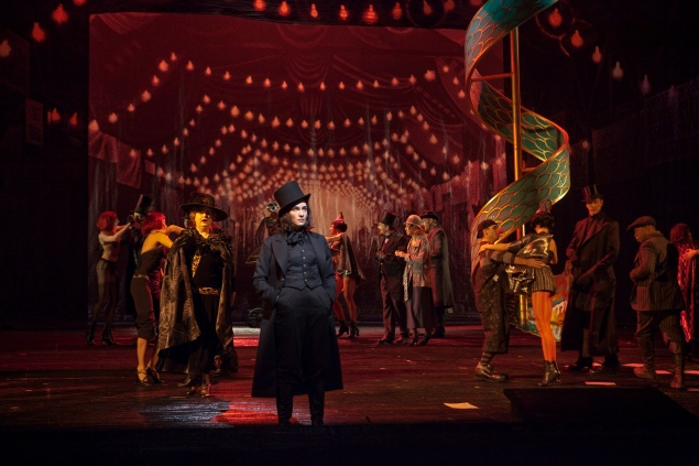 A scene from Act I with Kate Lindsey as Nicklausse in Offenbach's Les Contes d'Hoffmann. (