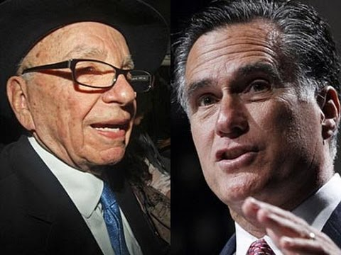 Rupert Murdoch and Mitt Romney