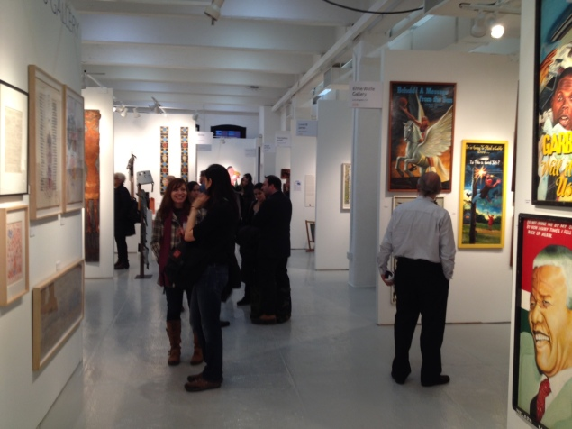 Visitors take in the sights at the Thursday preview of the 2015 Outsider Art Fair. (Photo: Brianna McGurran)