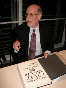 Harold Holzer photographed by Jill Krementz on November 8, 2010 at a book party hosted by the New York Times.
