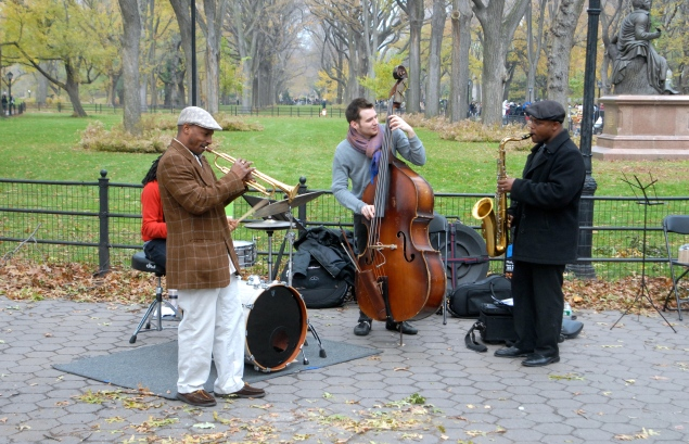 The J.D. Allen Quartet performed in Central Park for the inaugural Jazz & Colors in Nov. 2012. (Photo by Matthew Kassel)