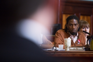 Committee Chairman Jumaane Williams at the hearing today. (William Alatriste/New York City Council)