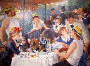 Pierre-Auguste Renoir, Luncheon of the Boating Party, 1880-1881. (Courtesy The Phillips Collection)