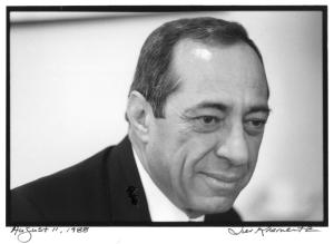 Former Gov. Mario Cuomo photographed by Jill Krementz at NYU on August 11, 1988.