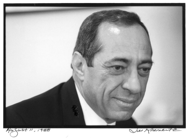 Former Gov. Mario Cuomo photographed by Jill Krementz at NYU on August 11, 1988.