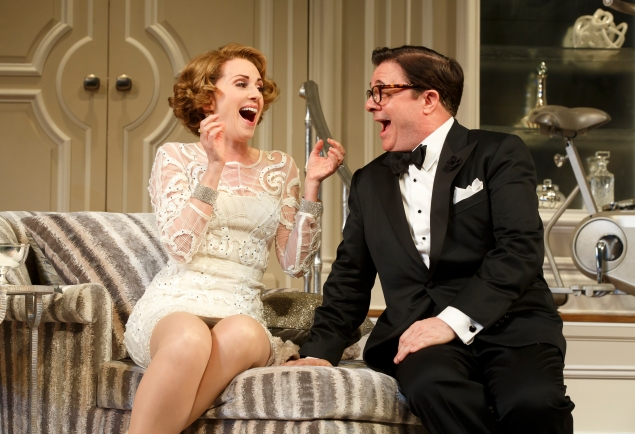 Megan Mullally and Nathan Lane now exit laughing.