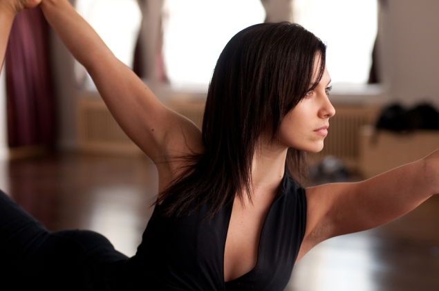 Hilaria Baldwin was at one point teaching 36 yoga classes per week. (Photo via Ms. Baldwin)