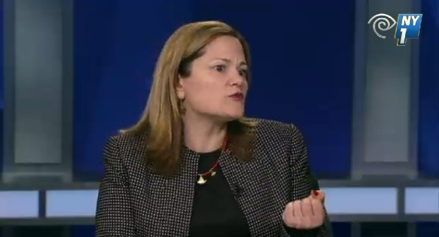 Council Speaker Melissa Mark-Viverito. (Screengrab: NY1)