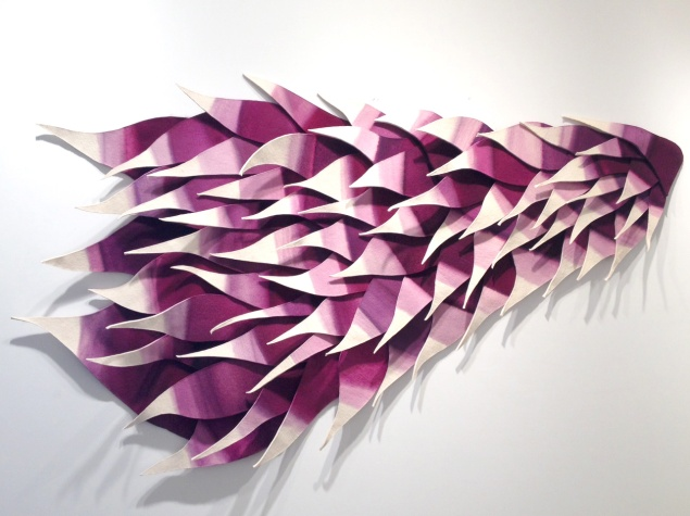 Jennifer Nocon, The Palimpsest was Purple, (2014). (Courtesy Tracy Williams, Ltd.)