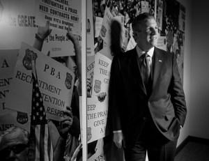 PBA President Patrick Lynch has a long history of fighting the city (Photo: Adam Jones).
