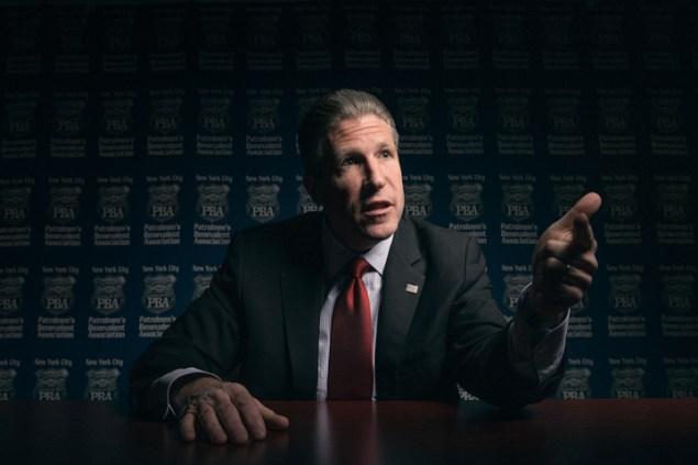 Patrolmen's Benevolent Association President Patrick Lynch. (Photo: Alex Jones/New York Observer)