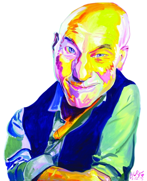 Patrick Stewart. (Illustration by Philip Burke.)