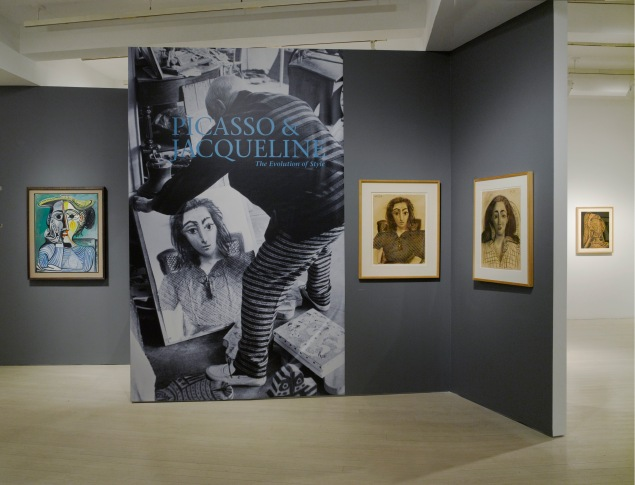 Installation view of Picasso & Jacqueline: The Evolution of Style October 31, 2014 – January 10, 2015 Pace Gallery  32 East 57th Street, New York. (©2014 Estate of Picasso / Artists Rights Society (ARS), New York Photo by Kerry Ryan McFate / Pace Gallery)