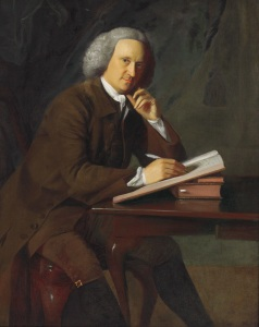 """This 1764 portrait of prominent merchant Samuel Phillips Savage shows """"the calm before the storm"""" of the American Revolution, according to Christie's, and it's priced accordingly. (Photo courtesy Christie's)"""