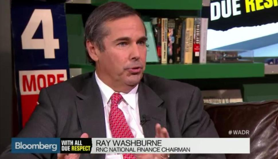 RNC Finance Chairman Ray Washburne is said to be joining Chris Christie campaign as Finance Chair as soon as this week. (Bloomberg TV screencap)
