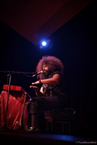 Reggie Watts, creator and performer of Audio Abramović, running January 14-18 at The Public Theater at Astor Place as part of The Public's Under the Radar Festival. (Photo: Paul Bloomfield.)