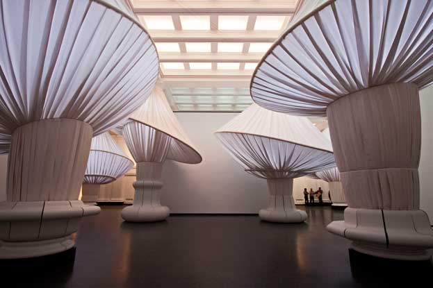 """Situ Studio (2005–present), Brooklyn. """"reOrder"""" in the Brooklyn Museum's Great Hall. (Image courtesy of Keith Sirchio and Brooklyn Musuem)"""