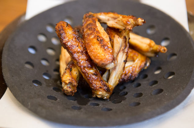 A plate of wings served at Kappo Masa. (Photo by Arman Dzidzovic/New York Observer)