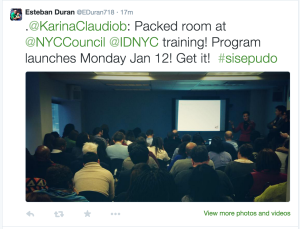 Another tweet about the IDNYC launch date. (Screenshot: Twitter)
