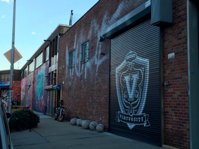 The exterior of CrossFit Virtuosity's new location in Williamsburg. (Photo by Jordyn Taylor)