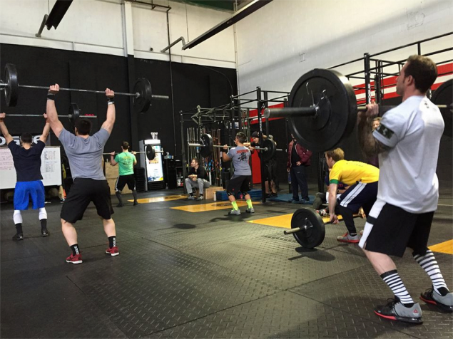 Athletes work out at CrossFit 718's new location under the Gowanus Expressway. (Facebook)