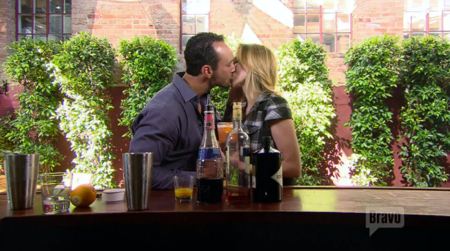 """""""I just can't REMEMBER the last time somebody's mixed me a burnt orange cocktail, said 'I'll show you some fire,' and then kissed me. All on national TV."""" (Bravo)"""