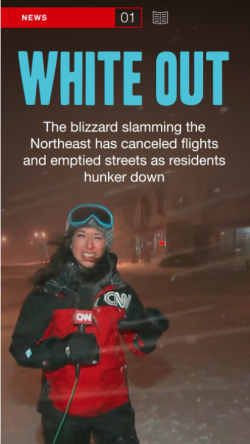 A screengrab from CNN's Snapchat Discovery channel. (Photo: CNN)