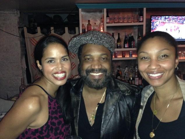 Tamara P. Carter, Selwyn Seyfu Hinds and Nadira Hira join the revelers. (New York Observer)