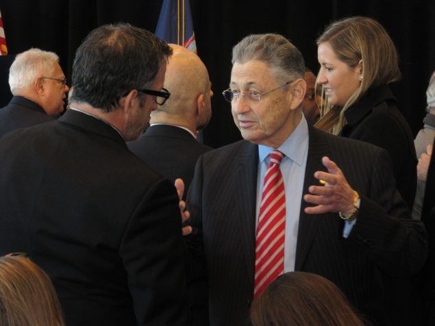 Assembly Speaker Sheldon Silver today (Photo: Will Bredderman).