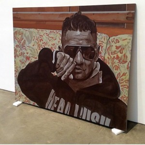 John Miller, Everything Is Said #23, 2102—and, yes, that is the likeness of <em>Jersey Shore</em> star The Situation (Courtesy Mary Boone Gallery)