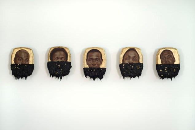 Titus Kaphar, Jerome (Set). (©Titus Kaphar. Courtesy of the artist and Jack Shainman Gallery, NY)