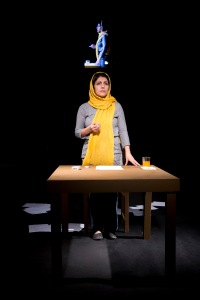 Mahin Sadri in Timeloss, running January 16-18 at The Public Theater as part of the Under the Radar Festival. (Photo: Mani Lotfizadeh.)