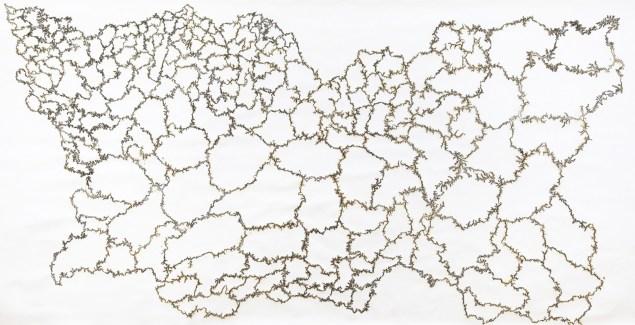 Troika, Cartography of Control 2014). © Troika, Courtesy Kohn Gallery)
