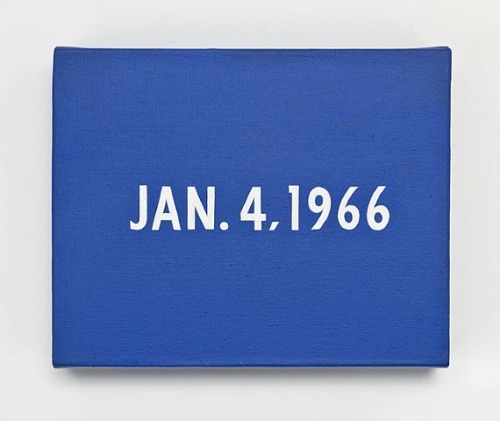 JAN. 4, 1966 (New York's traffic strike), (1966) by On Kawara. (Courtesy http://museumuesum.tumblr.com)