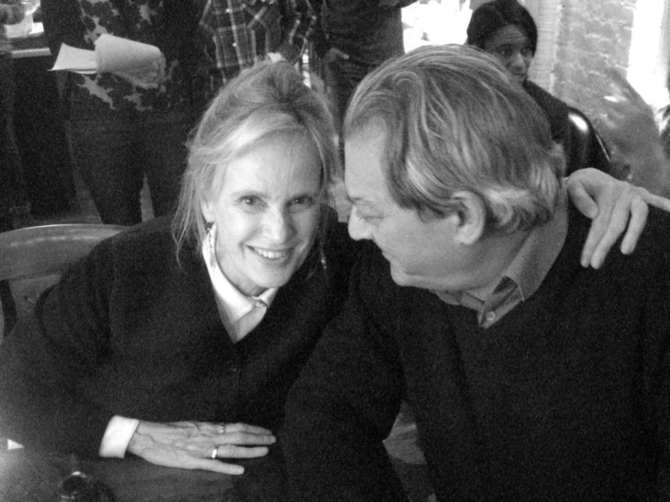 Siri Hustvedt and her husband Paul Auster photographed by Jill Krementz on December 13, 2014 in New York City.