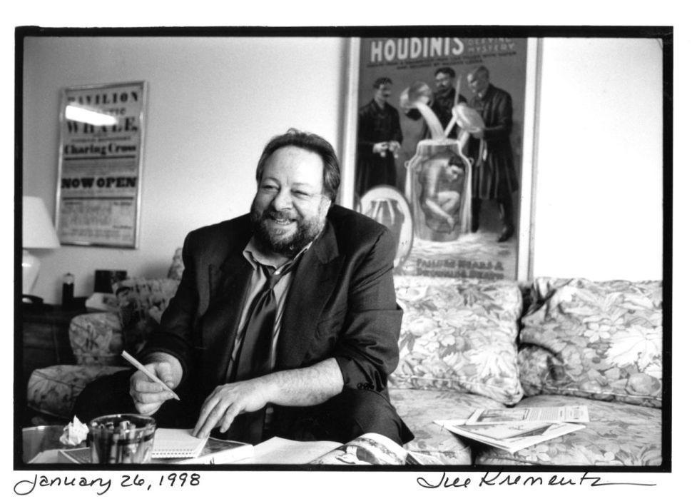 Ricky Jay photographed by Jill Krementz on January 26, 1998 in his Manhattan apartment.