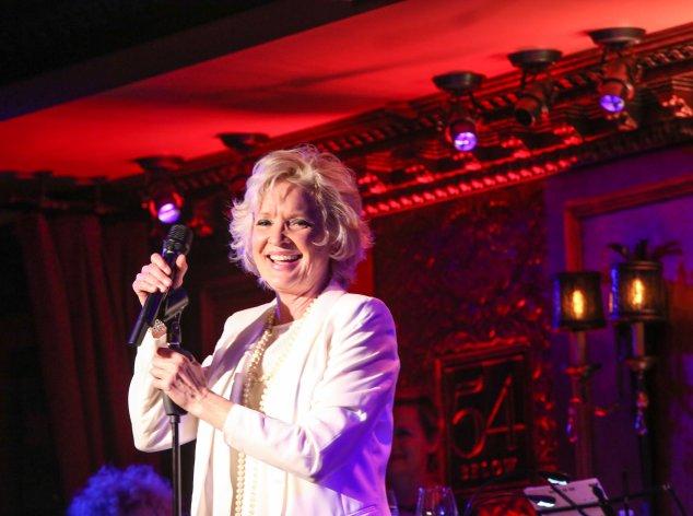 Christine Ebersole on stage at 54 Below. (Photo: Stephen Sorokoff)