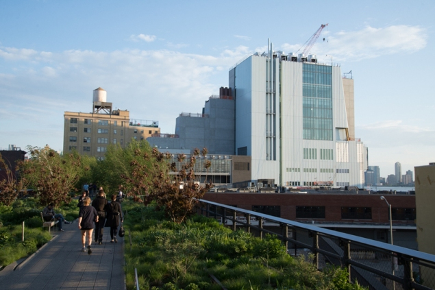 The new Whitney building on Gansevoort Street in the meatpacking district, adjacent to the High Line. (Courtesy Whitney.org)