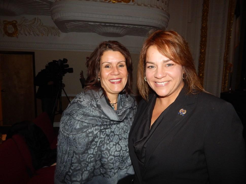 Perth Amboy Mayor Wilda Diaz, left, and Assemblyman Angelica Jimenez (D-32), West New York.