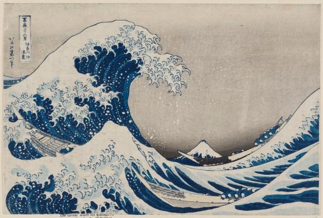 Under the Wave off Kanagawa, (ca. 1830-31). (Photo: MFA Boston)