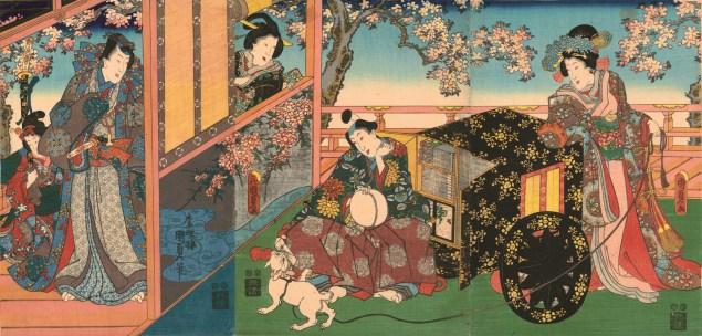 "Utagawa Kunisada II, ""Kashiwagi,"" 1848-54 (Photo courtesy Hiraki Ukiyo-e Foundation)."