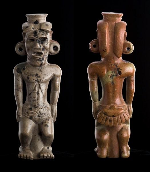 Human Effigy Pipe (100 B.C. – A.D. 100), Adena or Hopewell artist (Photo courtesy Ohio Historical Society/Metropolitan Museum of Art).