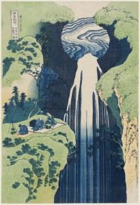The Amida Falls in the Far Reaches of the Kisokaidô Road, (ca. 1832). (Photo: MFA Boston)