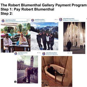 The fabulous life of Robert Blumenthal, on Instagram. (Courtesy freeze d/e)