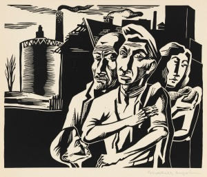 Workers Family (1937) by Mitchell Siporin. (Alvia Urdaneta/ Mary and Leigh Block Museum of Art, Northwestern University, gift in part of Louise Dunn Yochim, 1997)