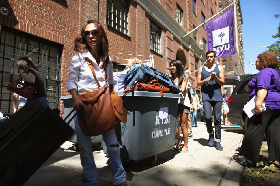 NYU, with ond on the largest populations of Jewish students in the country, has become a hotbed of anti-Israel activism. (Chip Somodevilla/Getty Images)