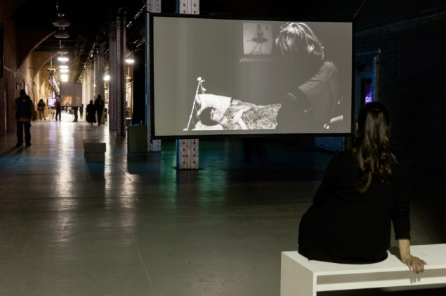 A work on view at last year's Moving Image New York in Chelsea's Waterfront Tunnel (Photo: Etienne Frossard/Moving Image).