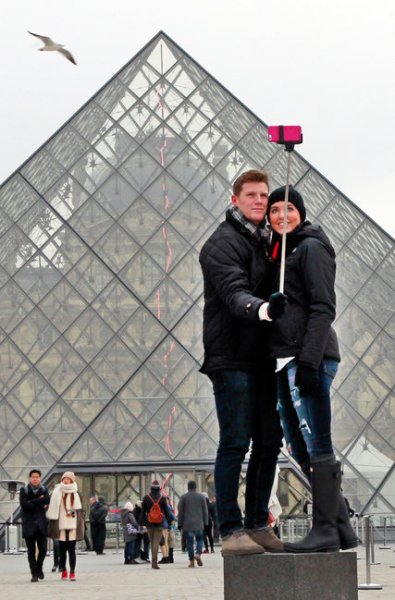 Selfie Stick at the Louvre. (Photo courtesy Remy De La Mauviniere/Associated Press)