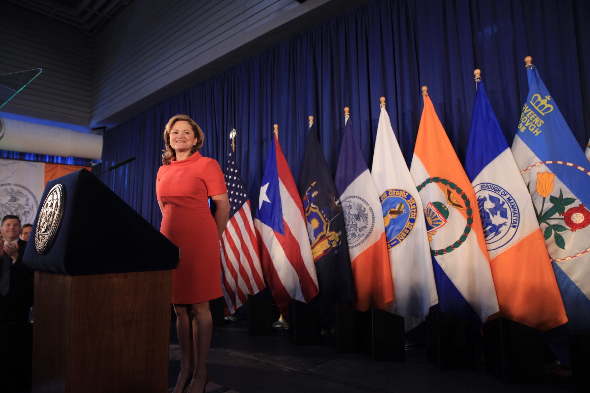 Melissa Mark-Viverito delivering her State of the City speech today. (William Alatriste/New York City Council)